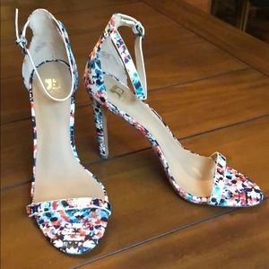 Joes floral print ankle strap sandals - never worn